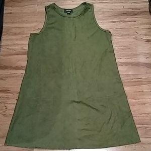Karen Kane olive green suede dress